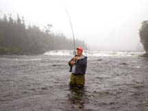 Every angler's dream - fishing at Serpentine Valley Outfitters in Newfoundland, Canada where the 'Big ones' are waiting...